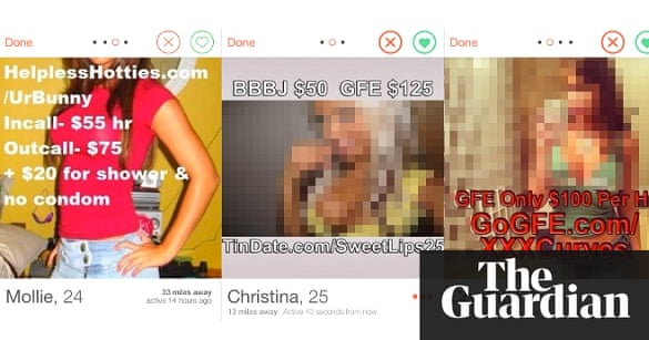 Tinder spam still swelling: from adult webcams to fake prostitutes |  Technology | The Guardian