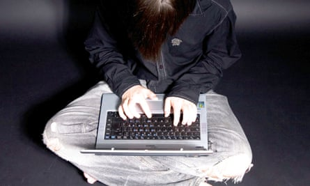 anonymous commenter on laptop