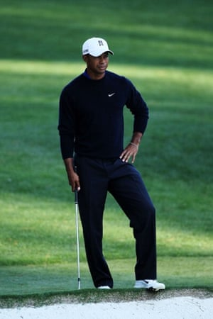 Tiger Woods during the Masters at Augusta 6 April 2012