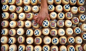 Scottish independence cupcakes