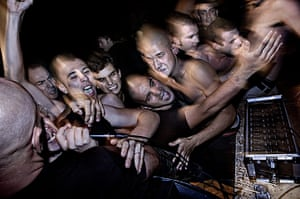 Weekend - Skinheads : Young people at a nazi concert in Padova, Italy