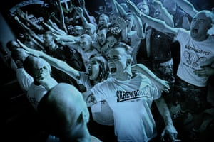 Weekend - Skinheads : Skinheads at a nazi rock concert in Rome