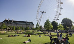 Heatwaves hit England in July 2014. The year has seen the average temperature 1.5C higher than the long-term average.