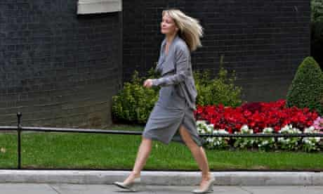 Esther McVey arriving in Downing Street for her new appointment.