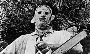 Leatherface in The Texas Chains Saw Massacre.