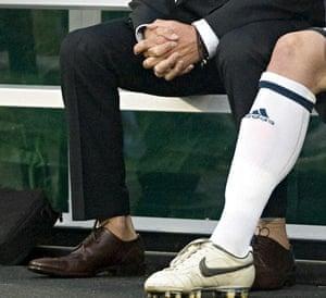 """British football star David Beckham (L)"""