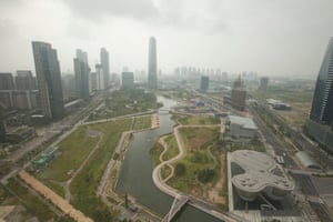Songdo International Business District has been built on 1,500 acres of reclaimed land.