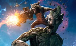 Rocket Raccoon and Groot from Guardians of the Galaxy, whose producer rejects criticism of Marvel over Edgar Wright Ant-Man exit.