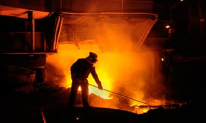 A steelworks in Wales. EU carbon prices have fallen to €6 per tonne from more than €30 in 2008