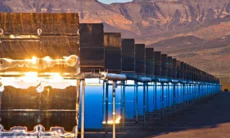 Solar panels in Nevada, US