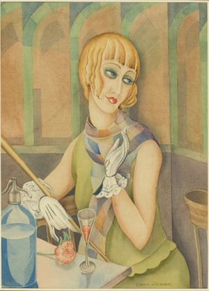 Lili Elbe, watercolour attributed by Gerda Wegener circa 1929. Elbe had 5 gender reassignment operations, the first by Magnus Hirschfeld