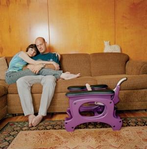 Sex Machines, by Timothy Archibald. 'Dan and Jan Siechert, The Monkey Rocker, Bakersfield, California'