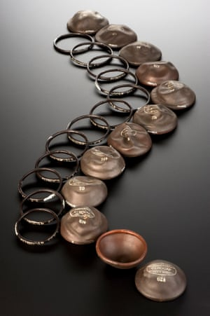 Set of 12 rubber measuring rings and Clinocap diaphragms, made specially for Dr. Marie Stopes, 1934