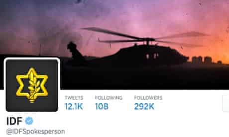 The Israeli military's Twitter account