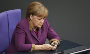 US-German relations were left strained by claims Angela Merkel's phone had been tapped by the NSA.