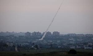 Rockets aimed at Israel