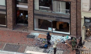 The site of an explosion that went off during the Boston marathon in 2013.