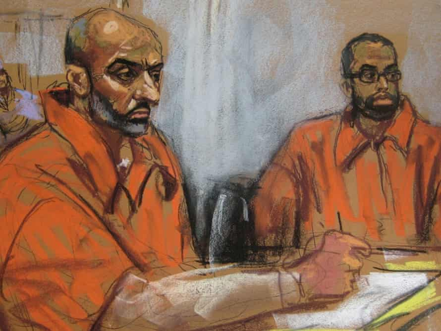 Babar Ahmad and Syed Talha Ahsan in US District Court in New Haven.