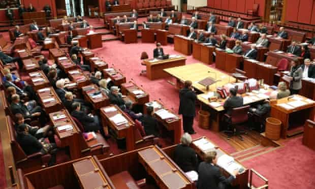 Divisions in the senate this morning, Thursday 17th July 2014
