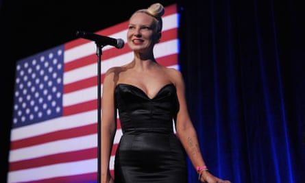 A rare show for Sia, at the Democratic National Committee LGBT Gala.