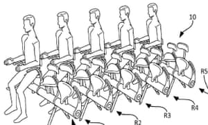 Flying battery farm … Airbus unveils the folding airline seat.