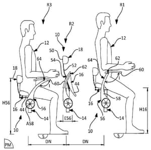 Knee-to-rump … the seats are designed to squeeze even more people in.