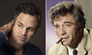Mark Ruffalo and Peter Falk as Columbo