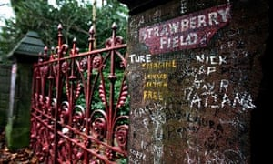 """""""The gates of Strawberry Field in Liverpool immortalised by the Beatles song 'Strawberry Fields Forev"""""""