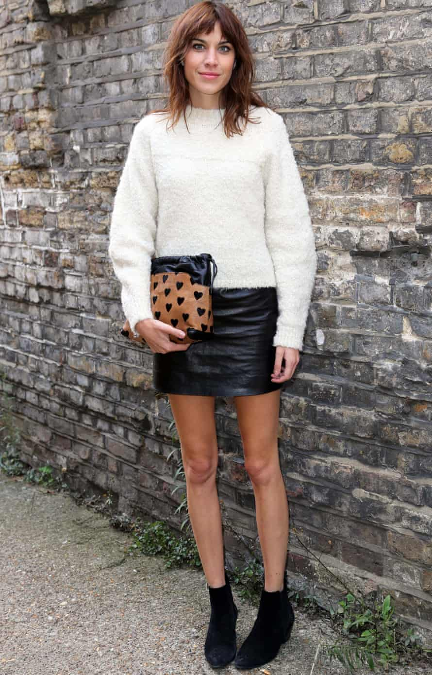 Alexa Chung: praised for her stylishness but to many appears to present an unrealistic body weight