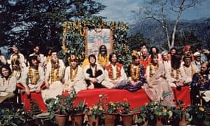 """""""The Beatles and their wives at the Rishikesh in India with the Maharishi Mahesh Yogi, March 1968"""""""