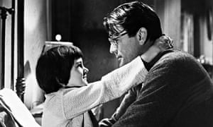Gregory Peck and Mary Badham in To Kill a Mockingbird