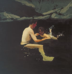 Melanie and Me Swimming by Michael Andrews