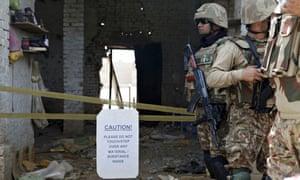 Pakistani troops in Miran Shah, North Waziristan