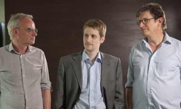 Edward Snowden, Alan Rusbridger and Ewen MacAskill