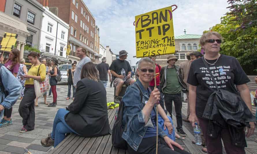 Brighton TTIP demo