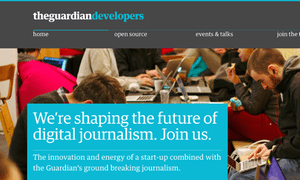 The new Guardian Developers Site.