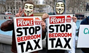 Anti bedroom tax protesters