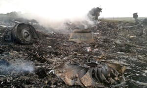 The site of a Malaysia Airlines Boeing 777 plane crash is seen in the settlement of Grabovo in the Donetsk region. mh17