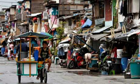 A shantytown in Manila. The Philippines poverty rate increasing