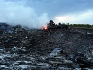 Wreckage of MH17. ukraine