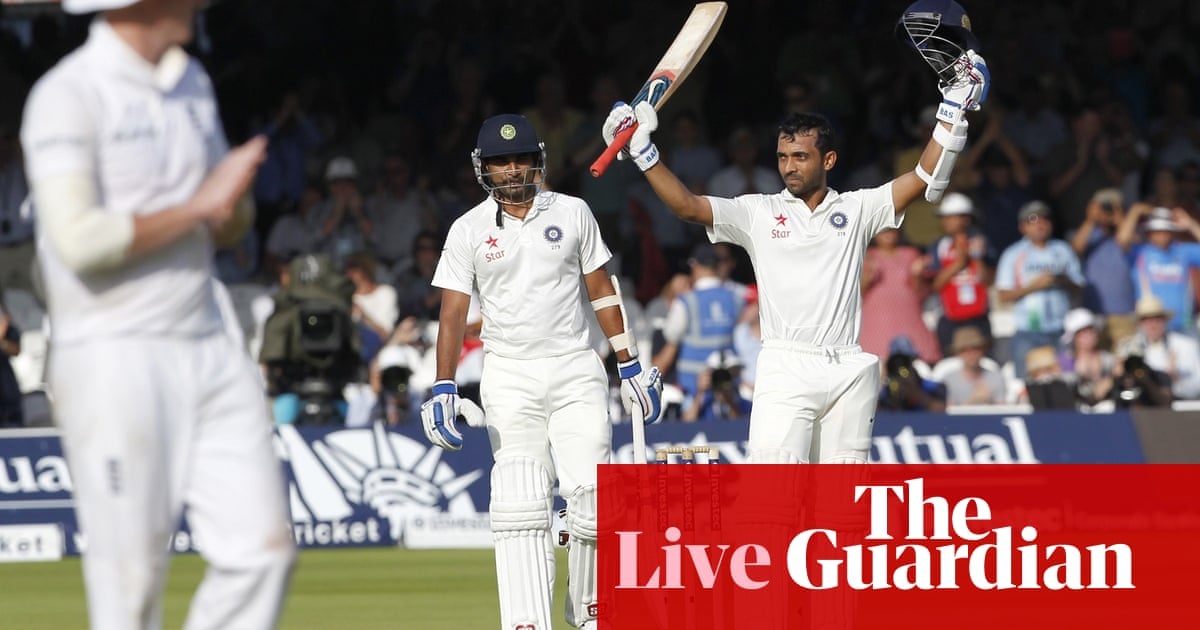England v India: second Test, day one – as it happened