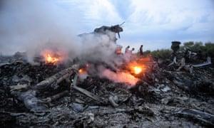 Wreckage of Malaysia Arilines flight MH17 ukraine