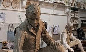 Clay model of the statue of Matthew Flinders