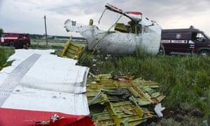 Malaysia Arilines flight MH17 near Grabovo.