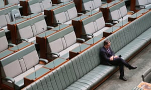 Joel Fitzgibbon waits for the house to re-convene this morning, Friday 18th July 2014