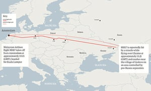 MH17 flight path graphic