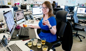 Non-alcoholic beer tasting in the Guardian office.