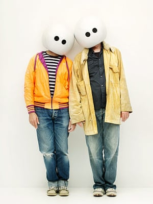 Bestival dressing up: Kent Mathews and Dan Smith Orbital Bestival dressing up