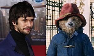 Bear talent … Ben Whishaw and Paddington Bear
