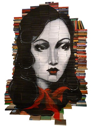 Mike Stilkey paintings: Mike Stilkey Paintings on discarded books